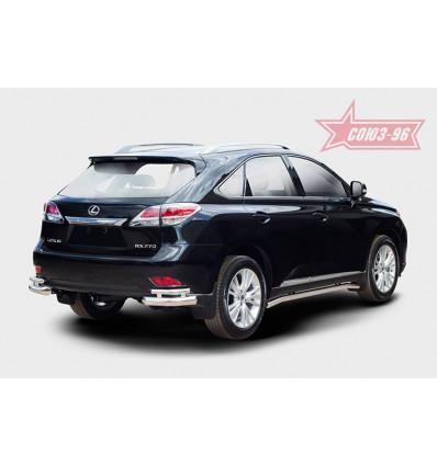 """Защита задняя """"уголки"""" на Lexus RX III 270/350/450H LERX.76.1501"""