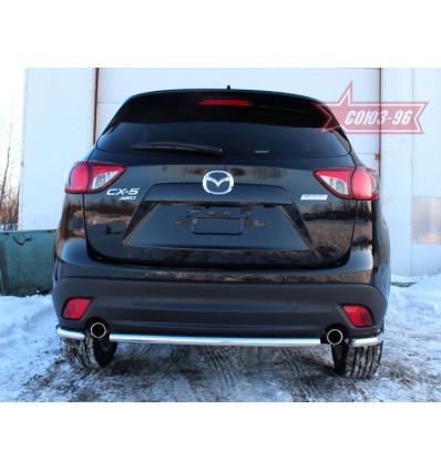 """Защита задняя """"уголки""""  на Mazda CX-5 MCX5.76.1426"""