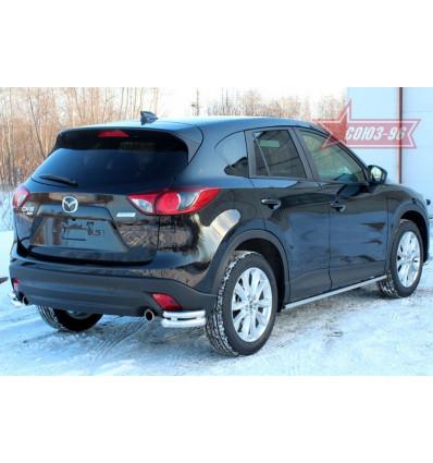 """Защита задняя """"уголки""""  на Mazda CX-5 MCX5.76.1428"""