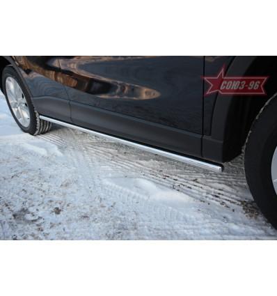 Пороги труба на Mazda CX-5 MCX5.80.1421