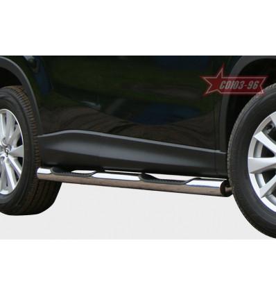 Пороги с проступями на Mazda CX-5 MCX5.81.1491