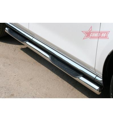 Пороги с проступями на Mazda CX-7 MACX.81.1111