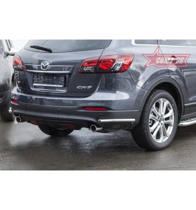 """Защита задняя """"уголки"""" на Mazda CX-9 MCX9.76.1691"""