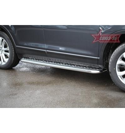 Пороги с листом  на Mazda CX-9 MCX9.82.1690
