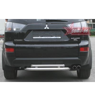 Защита заднего бампера на Mitsubishi Outlander XL MIOU.75.0482