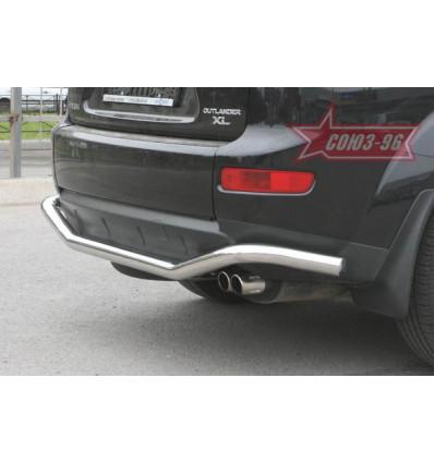 "Защита заднего бампера ""волна"" на Mitsubishi Outlander XL MIOU.75.0483"