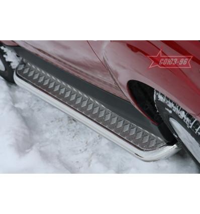 Пороги с листом на Mitsubishi Outlander XL MIOU.82.1036
