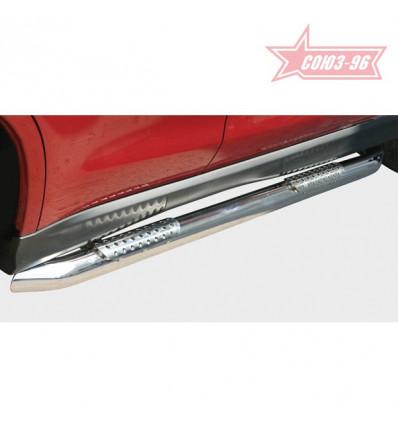 Пороги труба на Mitsubishi Outlander XL MIOU.84.0420