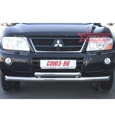 Защита переднего бампера на Mitsubishi Pajero III MIPJ.48.0235