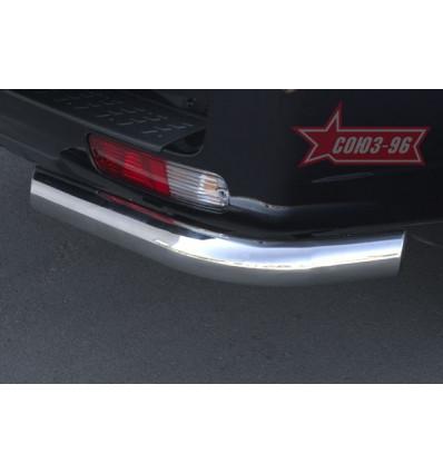 """Защита задняя """"уголки"""" на Mitsubishi Pajero III MIPJ.76.0232"""