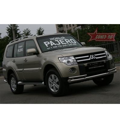 Защита переднего бампера на Mitsubishi Pajero IV MIPJ.48.0472