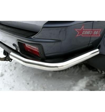 """Защита задняя """"уголки"""" на Mitsubishi Pajero Sport  MIPS.76.0127"""