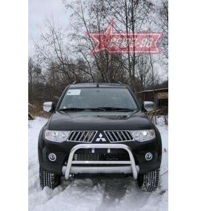 Решетка передняя мини на Mitsubishi Pajero Sport  MIPS.56.0774