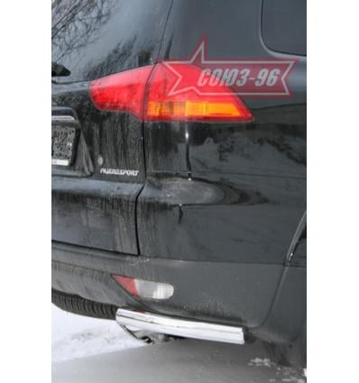 """Защита задняя """"уголки"""" на Mitsubishi Pajero Sport  MIPS.76.0782"""