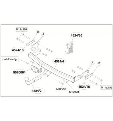 Фаркоп на Jeep Liberty 452400