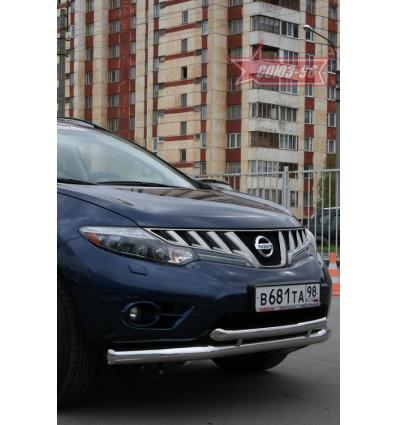 Защита переднего бампера на Nissan Murano  NMUR.48.0828