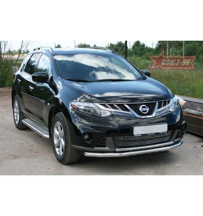 Защита переднего бампера на Nissan Murano NMUR.48.1320