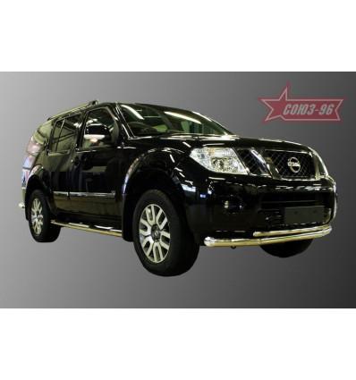 Защита переднего бампера на Nissan Pathfinder NPTF.48.0153