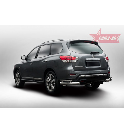 "Защита задняя ""уголки"" на Nissan Pathfinder NPTF.76.5225"