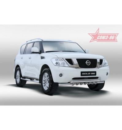 Защита переднего бампера на Nissan Patrol NPAT.45.1208