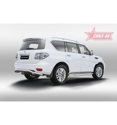 """Защита заднего бампера """"волна"""" на Nissan Patrol NPAT.75.1217"""