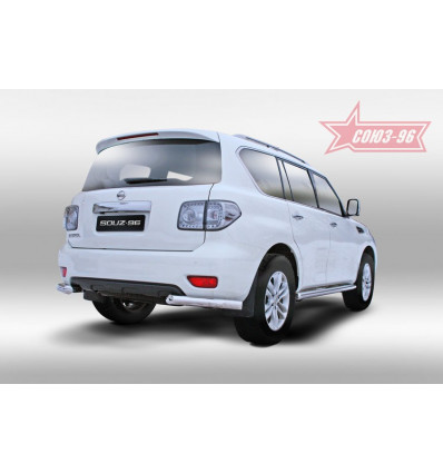 """Защита заднего бампера """"уголки"""" на Nissan Patrol NPAT.76.1215"""