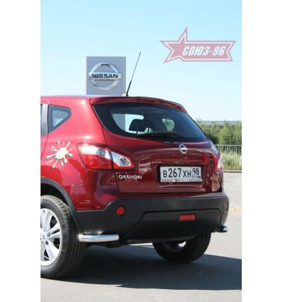 """Защита задняя """"уголки"""" на Nissan Qashqai NQSH.76.0945"""