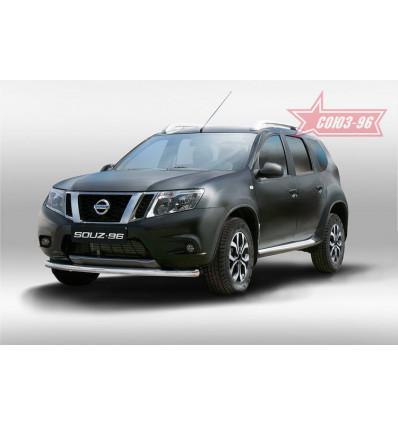 Защита переднего бампера на Nissan Terrano NTER.48.5085