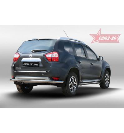 Защита задняя на Nissan Terrano NTER.75.5093