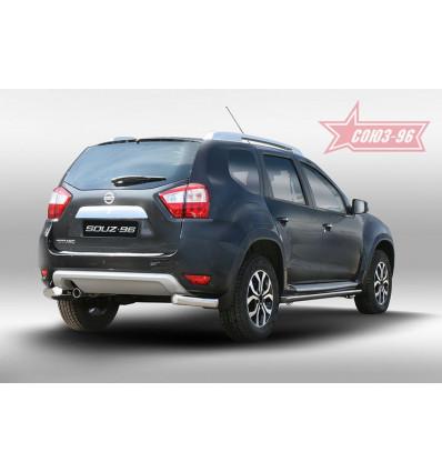 """Защита задняя """"уголки"""" на Nissan Terrano NTER.76.5097"""