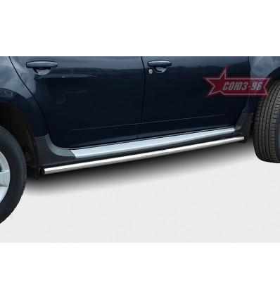 Пороги труба на Nissan Terrano NTER.80.5091