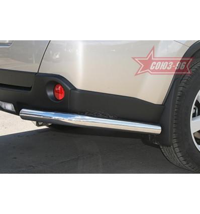 """Защита задняя """"уголки"""" на Nissan X-Trail NXTR.76.0504"""