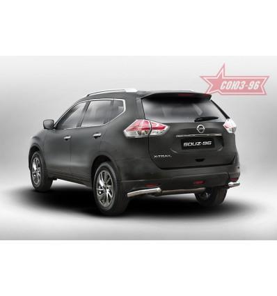 """Защита задняя """"уголки"""" на Nissan X-Trail NXTR.76.5276"""