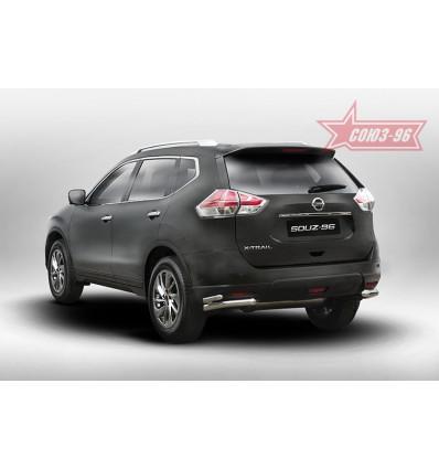 """Защита задняя """"уголки"""" на Nissan X-Trail NXTR.76.5277"""