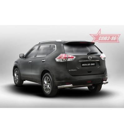 """Защита задняя """"уголки"""" на Nissan X-Trail NXTR.76.5278"""