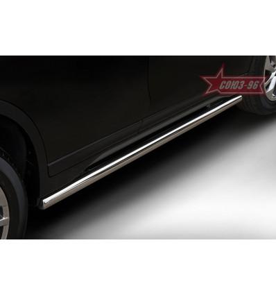 Пороги труба на Nissan X-Trail NXTR.80.5270
