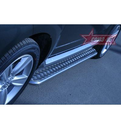 Пороги с листом на Peugeot 4007 PEUG.82.0642