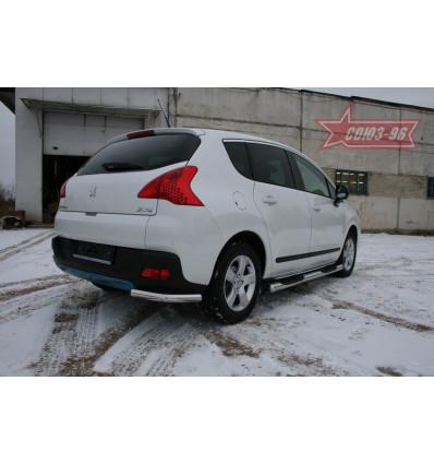 """Защита задняя """"уголки"""" на Peugeot 3008 PG08.76.0889"""