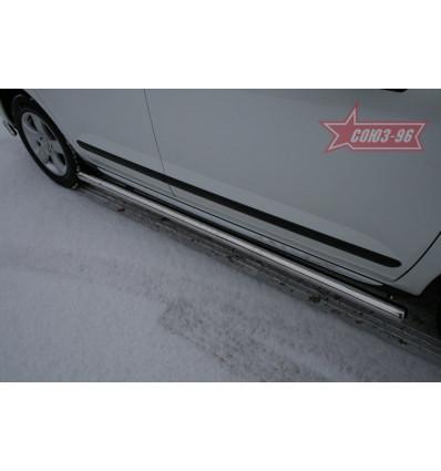 Пороги труба на Peugeot 3008 PG08.80.0858
