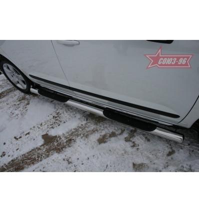 Пороги с проступью на Peugeot 3008 PG08.81.0860