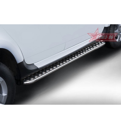 Пороги с листом на Renault Duster RDUS.82.1443RDUS.82.1444