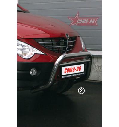 Решетка передняя мини на Ssang Yong Actyon Sport SYAS.56.0758