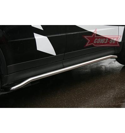 Защита штатных порогов на Subaru Tribeca SUTR.86.0653