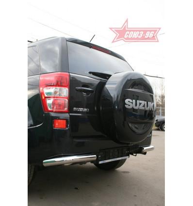 """Защита задняя """"уголки"""" на Suzuki Grand Vitara SZGV.76.0767"""