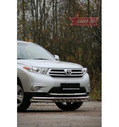 Защита переднего бампера на Toyota Highlander TOHR.45.0947