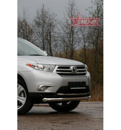 Защита переднего бампера на Toyota Highlander TOHR.48.0910