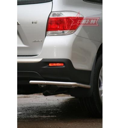 "Защита задняя ""уголки"" на Toyota Highlander TOHR.76.0959"