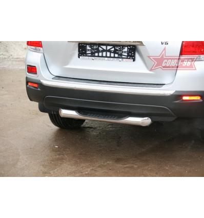 """Защита задняя """"ступень"""" на Toyota Highlander TOHR.77.0964"""