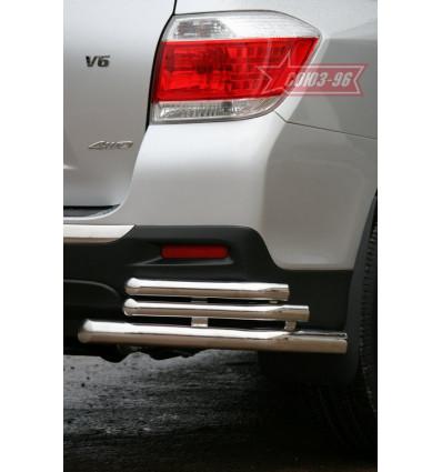 "Защита задняя ""уголки"" на Toyota Highlander TOHR.76.0961"