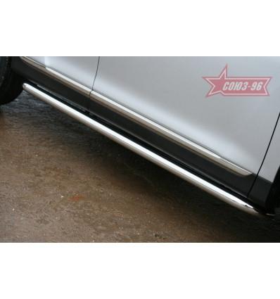 Пороги труба на Toyota Highlander TOHR.80.0955